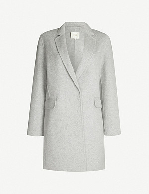 MAJE Galami relaxed-fit wool-blend coat