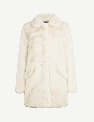 MAJE Collared faux-fur jacket