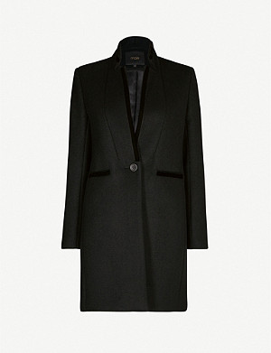 MAJE Galar long-sleeved wool-blend coat