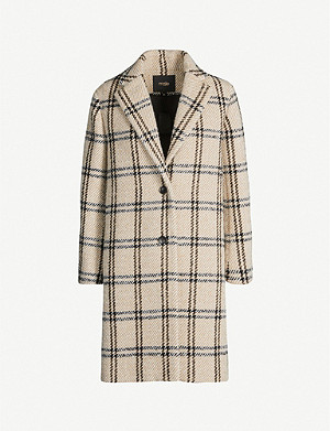 MAJE Checked print woven coat