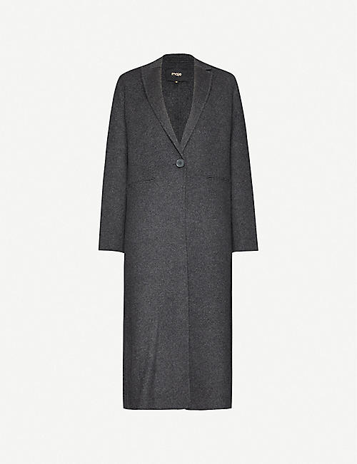MAJE Galaxy single-breasted wool-blend jacket