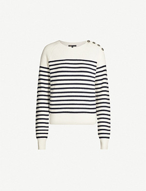MAJE 119Marin cotton and wool-blend jumper