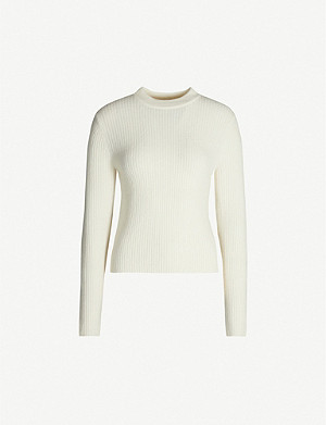 MAJE Magik ribbed stretch-knit jumper