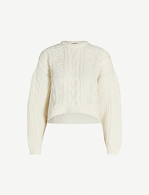 MAJE Martina cable-knit wool-blend jumper