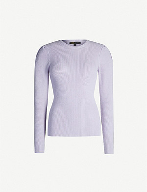 MAJE Mobil relaxed-fit wool-blend jumper