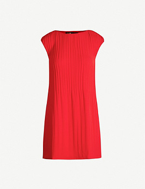 MAJE Pleated crepe shift dress