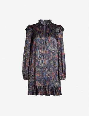 MAJE Paisley-print satin dress