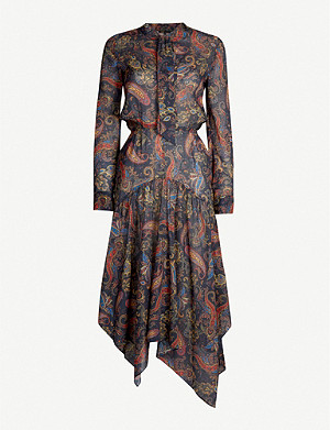 MAJE Paisley-print cotton dress