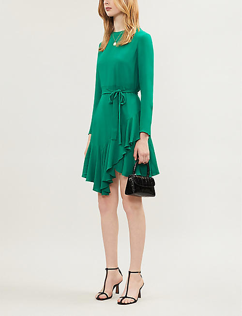 MAJE Asymmetric-hem crepe dress