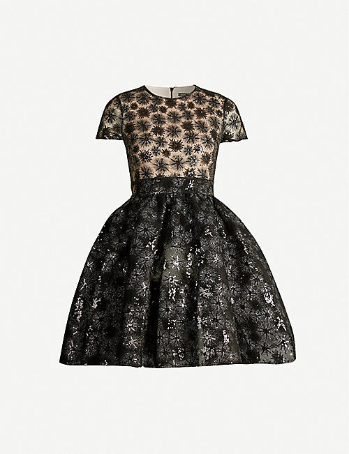 MAJE Rizio sequinned tulle mini dress