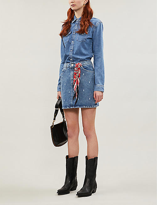 MAJE Faded denim dress