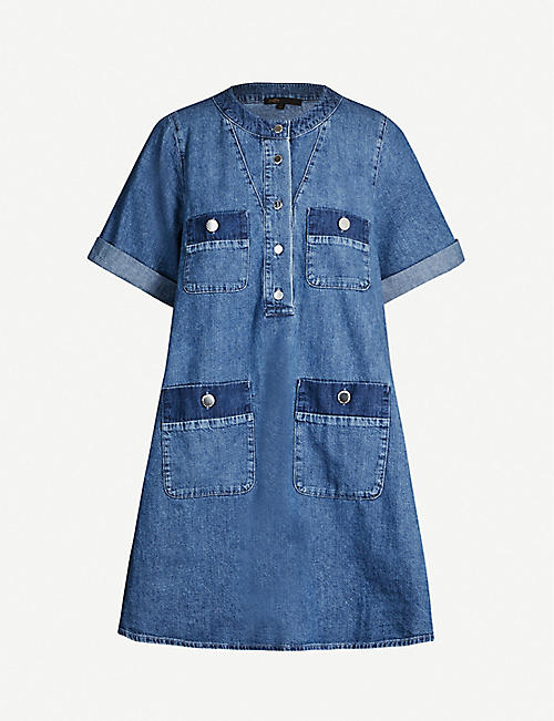 MAJE Rime denim mini dress