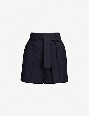 MAJE Pinstriped gabardine shorts