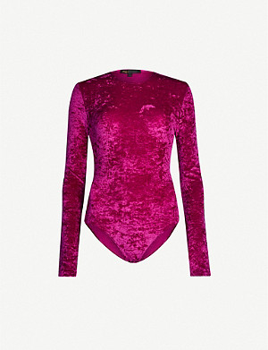 MAJE Crushed velvet body