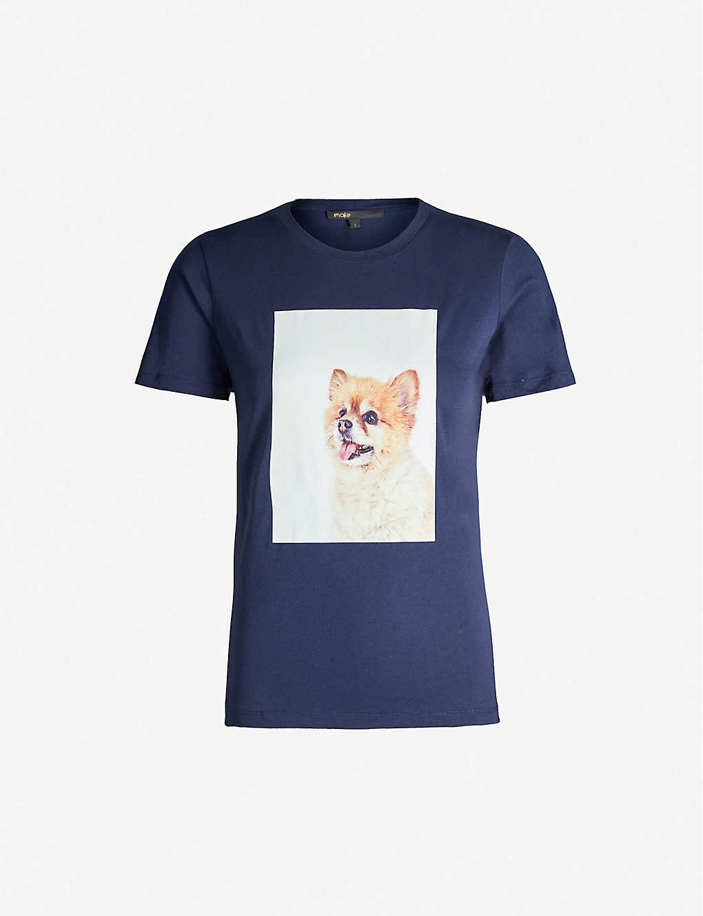 MAJE: Graphic-print cotton-jersey T-shirt