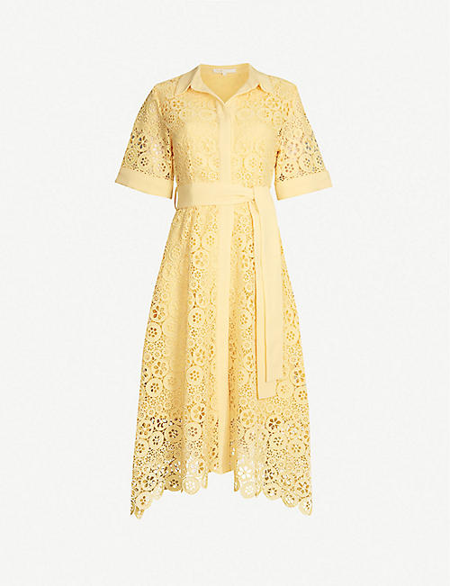 5eef7147e MAJE Embroidered-lace midi shirt dress
