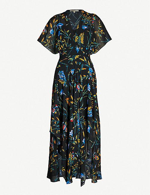 2575497bed6 MAJE Richelle floral-print chiffon midi dress