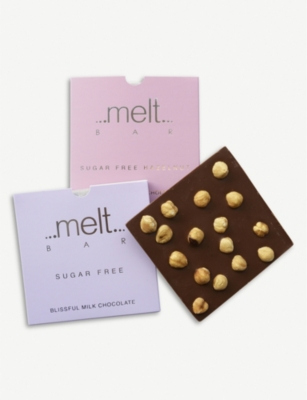 MELT Sugar free milk and dark chocolate bars 180g