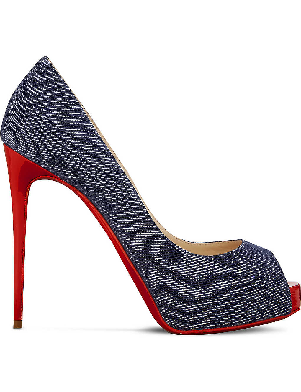 finest selection 0be0c f34ac CHRISTIAN LOUBOUTIN - New Very Prive 120 denim/patent toe ...