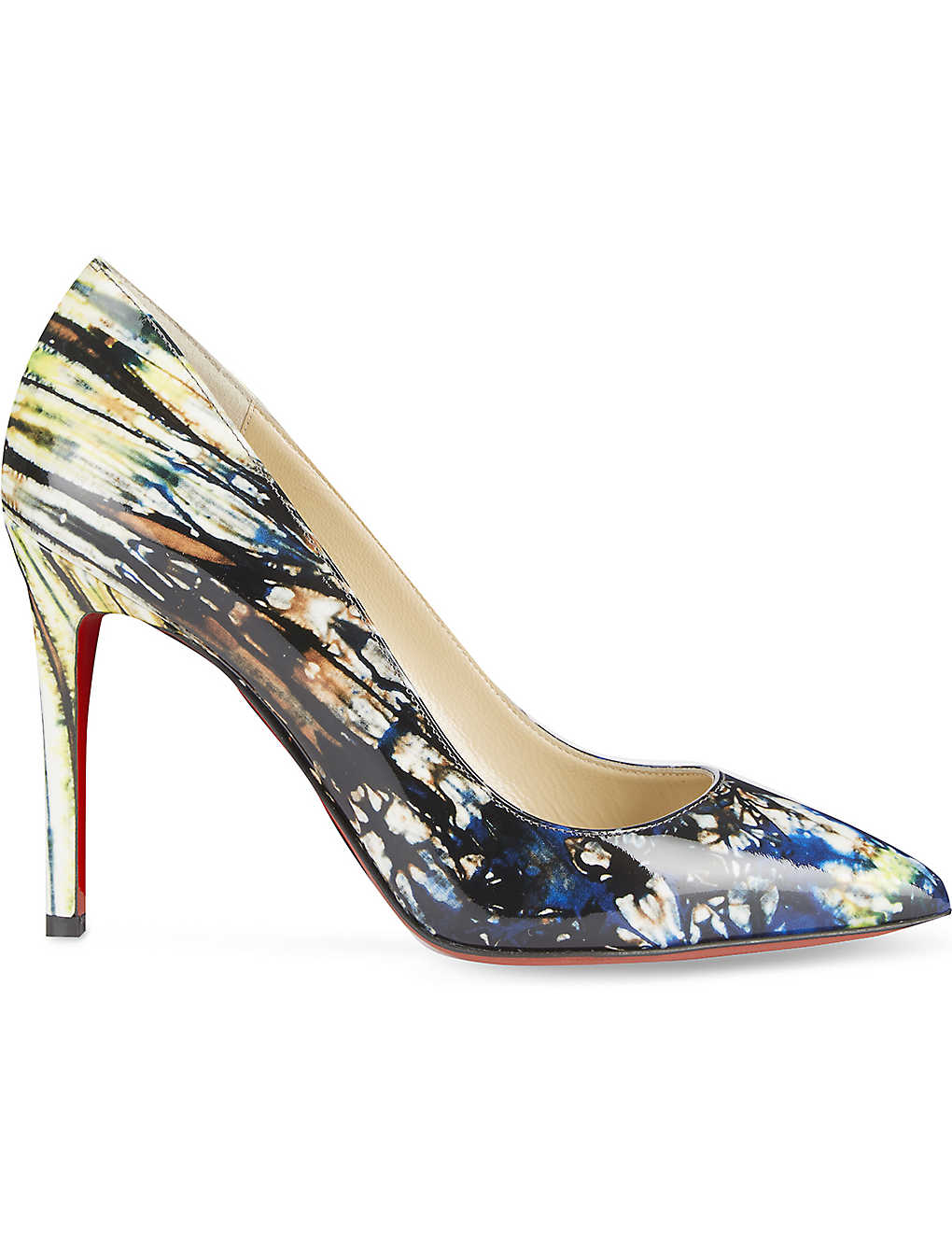 separation shoes e42bb 3d2ac CHRISTIAN LOUBOUTIN - Pigalle 100 patent bazin | Selfridges.com