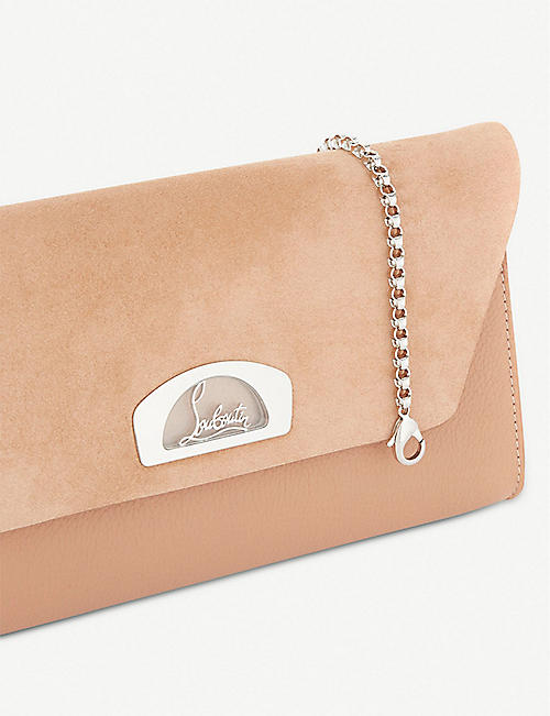 CHRISTIAN LOUBOUTIN Vero dodat suede and leather clutch