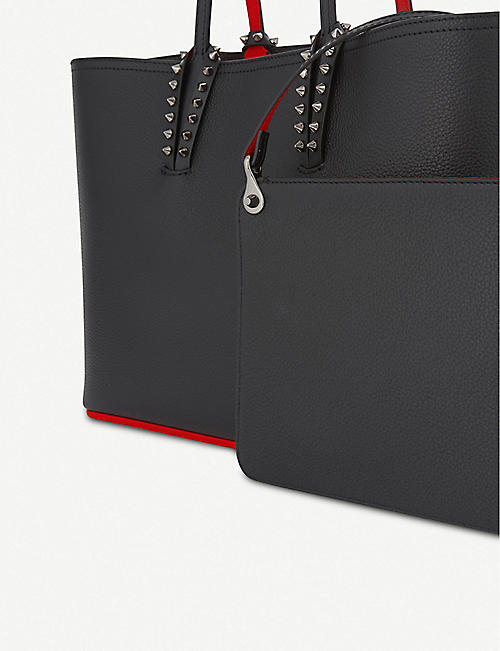 CHRISTIAN LOUBOUTIN Cabata small calf empire/calf paris blac