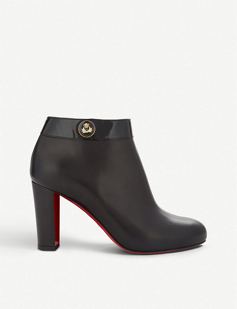 f8323f4f4e34c CHRISTIAN LOUBOUTIN - CL boots 85 calf/patent black | Selfridges.com