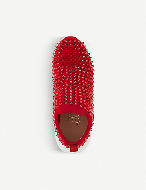 CHRISTIAN LOUBOUTIN Spikes sock donna flat neoprene