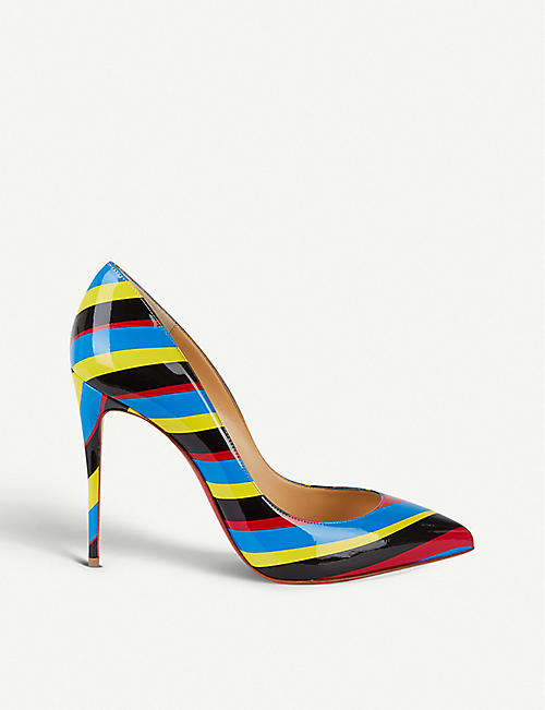 f22ff9d6fea CHRISTIAN LOUBOUTIN Pigalle Follies 100 airstripe patent courts