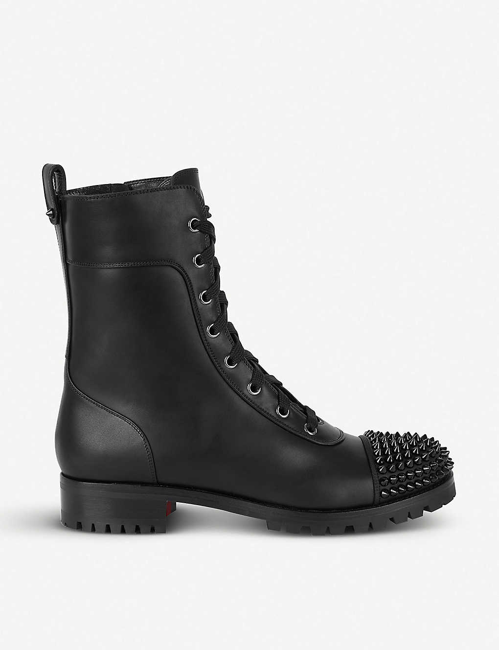 superior quality 45ecd cd879 Studded toe cap leather boots