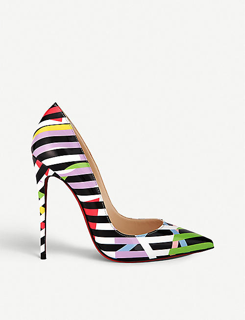 7c558e6bb14 CHRISTIAN LOUBOUTIN So kate 120 pat cinestripes multi
