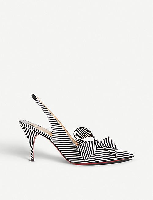 355c28165f9 CHRISTIAN LOUBOUTIN Clare nodo 80 pat stripes black-white