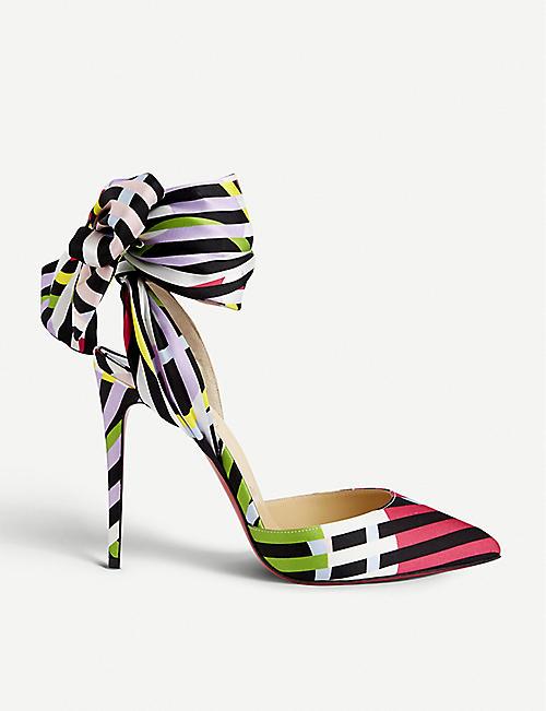 040108a02314 CHRISTIAN LOUBOUTIN Douce du Désert floral-print satin-crepe sandals