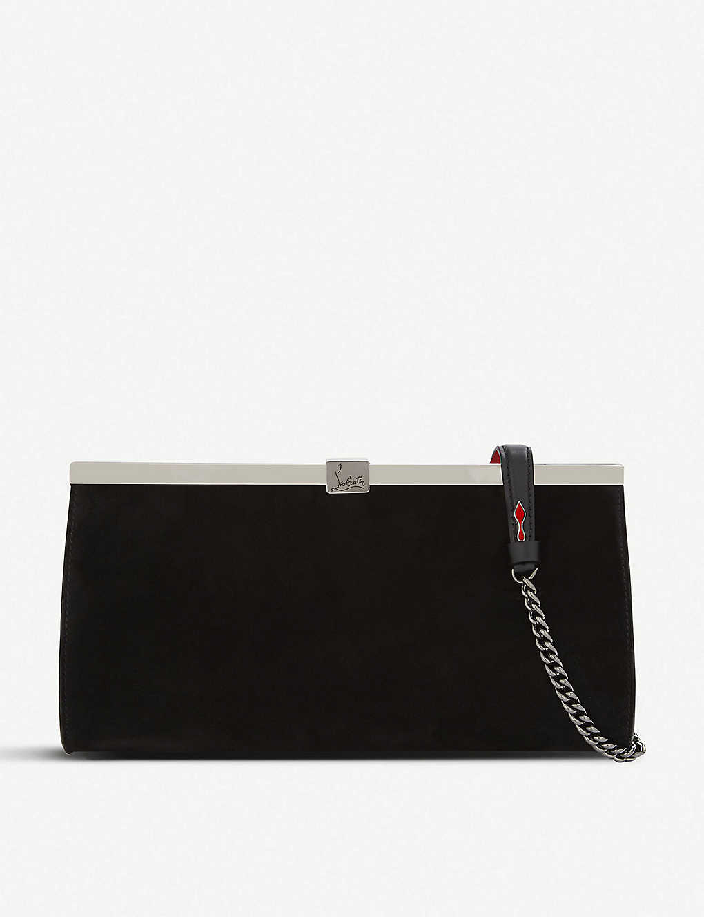 Christian Louboutin Clutch Palmette clutch veau velours black