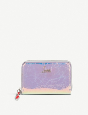 CHRISTIAN LOUBOUTIN W panettone coin purse calf banquise/met