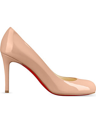 CHRISTIAN LOUBOUTIN:Simple Pump 85 小牛漆皮鞋