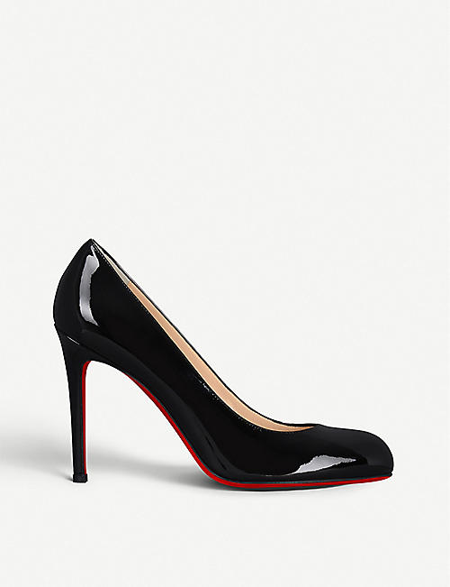 4a86af632774 CHRISTIAN LOUBOUTIN Simple pump 100 patent calf