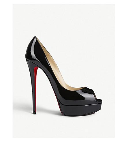 5418aa7fea0a CHRISTIAN LOUBOUTIN Lady Peep 150 patent calf (Black