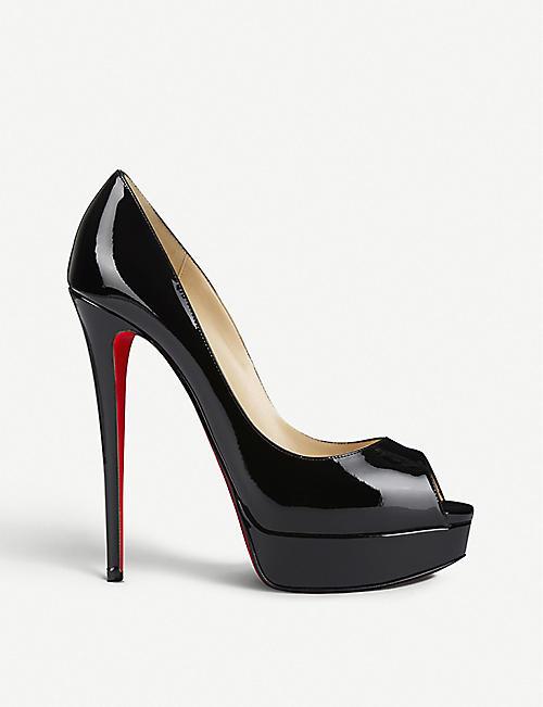 8e48af7faf27 CHRISTIAN LOUBOUTIN Lady Peep 150 patent calf