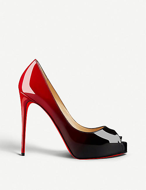 CHRISTIAN LOUBOUTIN New Very Prive 120 patent degrade/patent