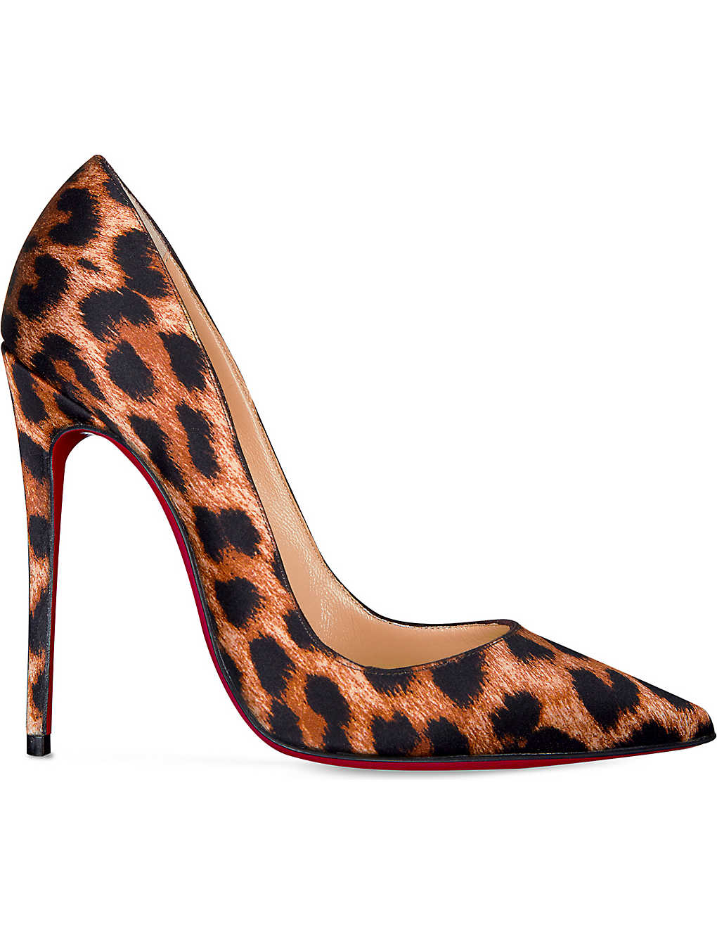 7b36e16d7855 CHRISTIAN LOUBOUTIN - So Kate 120 crepe satin leopard