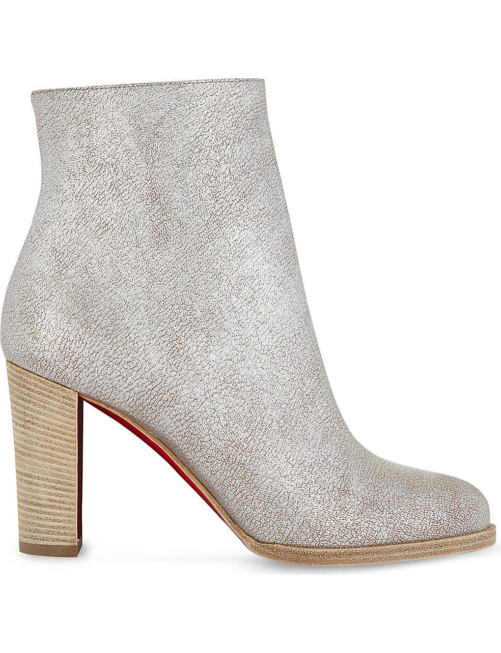 superior quality 2a694 f9a5a CHRISTIAN LOUBOUTIN - Adox 85 kid lame washed/cuoio heel ...