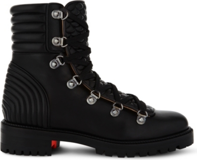 finest selection 051f0 2bb82 CHRISTIAN LOUBOUTIN - Mad Boot flat nappa shiny | Selfridges.com