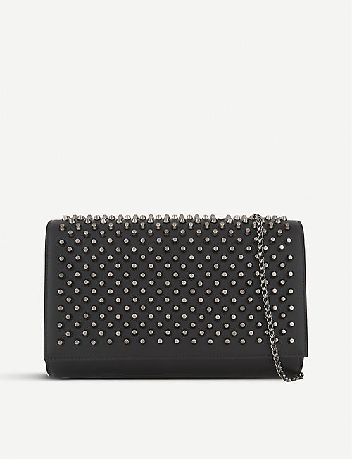 CHRISTIAN LOUBOUTIN Paloma clutch calf/spikes