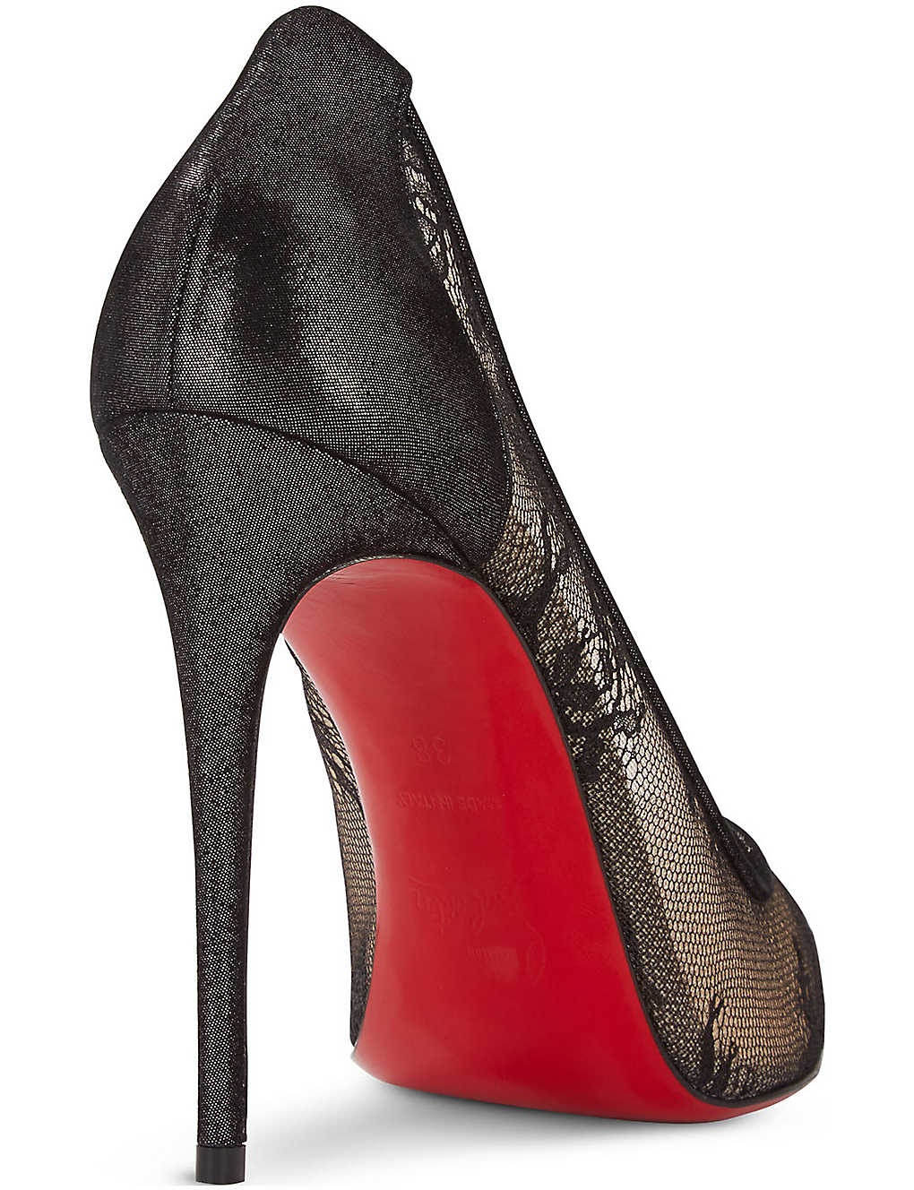 276f5be900b CHRISTIAN LOUBOUTIN - Lace 554 100 rete/dent laque/s | Selfridges.com