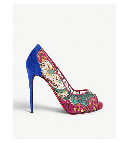 reputable site 9c2cb 97bf7 CHRISTIAN LOUBOUTIN - Very Lace 120 rete/dent floral ...