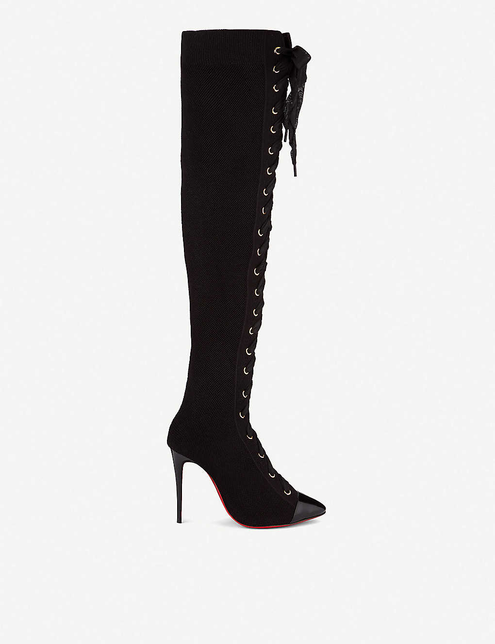 best loved d529b 3e332 CHRISTIAN LOUBOUTIN - Frenchie boot 100 pat/maille t ...