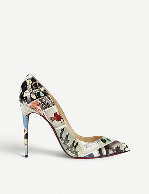 CHRISTIAN LOUBOUTIN Pigalle follies 100 patent collage
