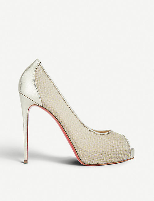 CHRISTIAN LOUBOUTIN Very lace 120 rete/filet lurex/palm lame