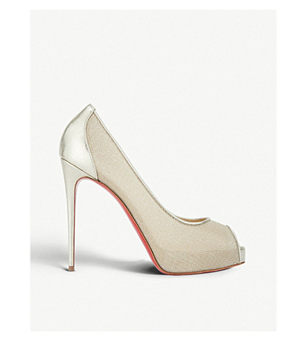 Christian Louboutin 0 Very lace 120 rete/filet lurex/palm lame